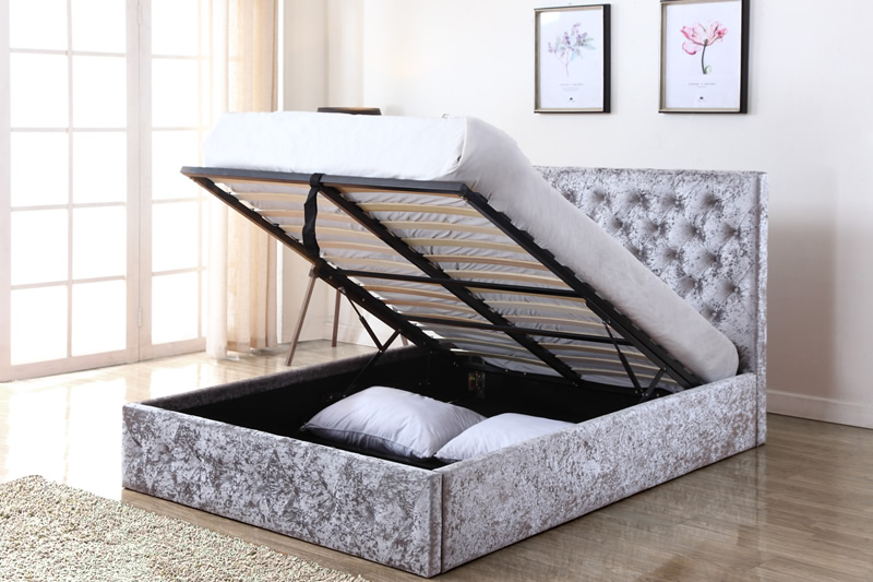 outlet store sale 88375 33438 Double Beds: Yasmin Storage Crushed Velvet Bed