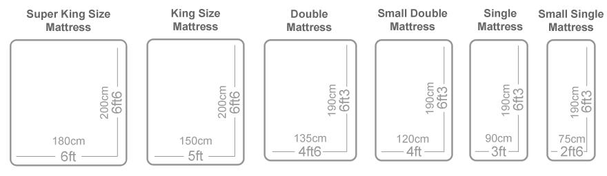 mattress heaven mattress size guide. Black Bedroom Furniture Sets. Home Design Ideas